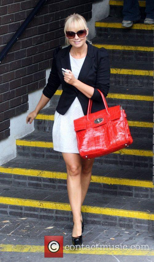 Emma Bunton leaves the ITV studios after presenting...
