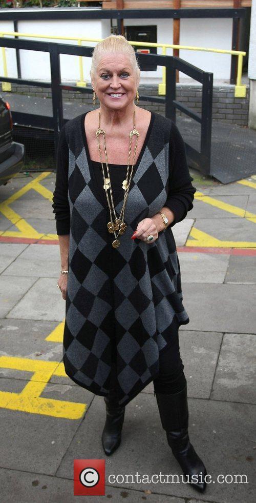 Kim Woodburn Celebrities outside the ITV television studios...