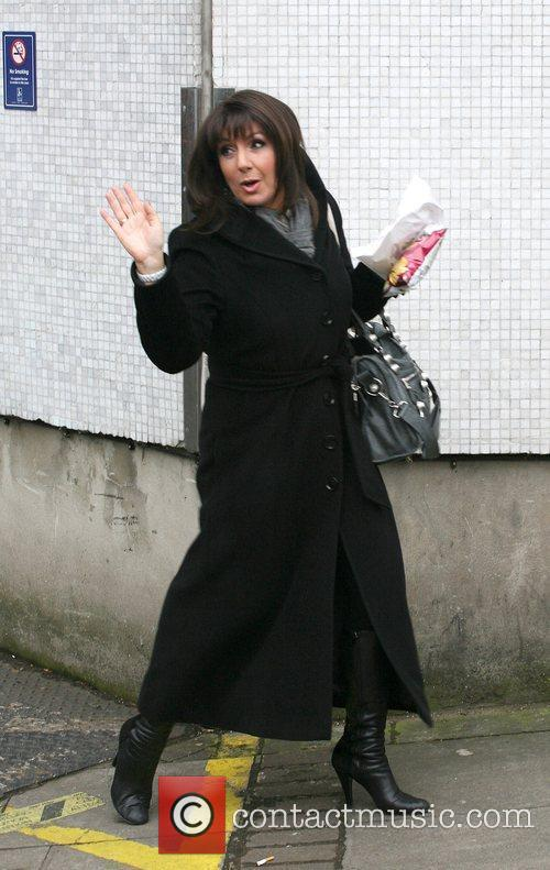 Jane MacDonald Celebrities outside the ITV television studios....