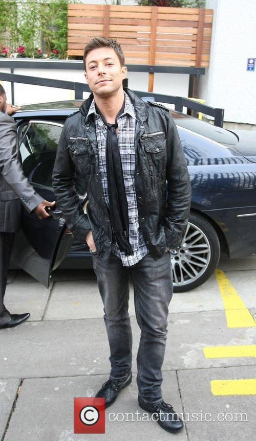 Duncan James Celebrities outside the ITV television studios...
