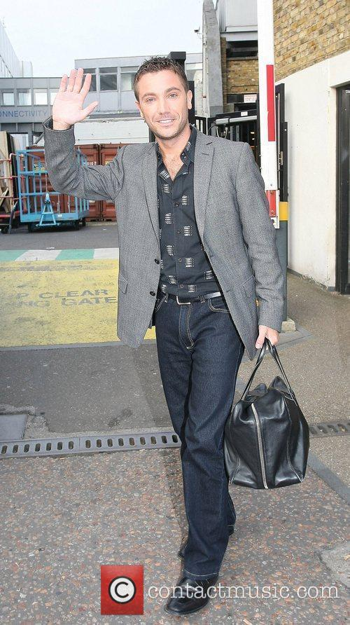 Gino D'Acampo Celebrities outside the ITV television studios...