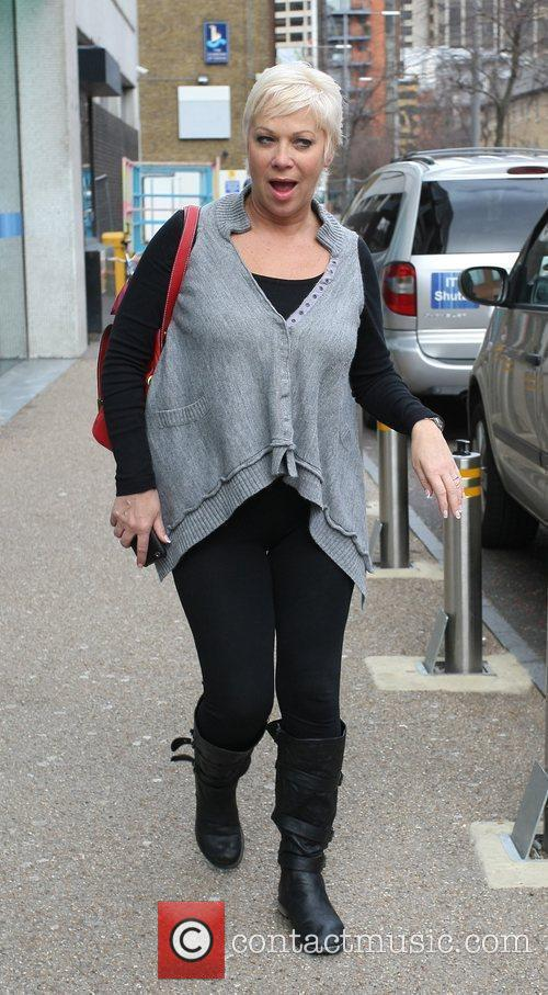 Denise Welch Celebrities outside the ITV television studios...