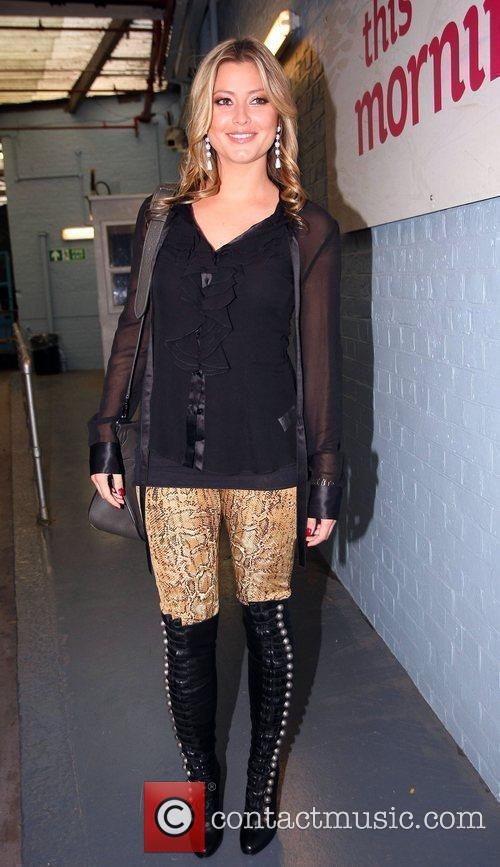 Holly Valance leaves the ITV studios after appearing...
