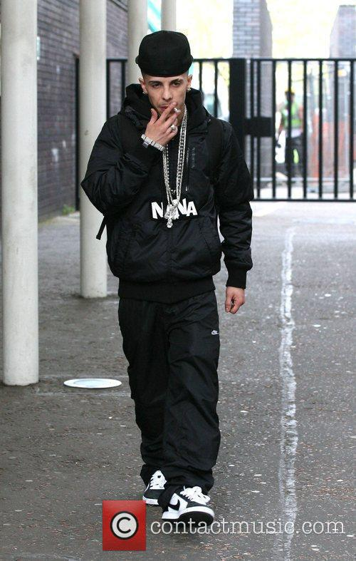 Dappy N-Dubz leave the ITV studios after appearing...