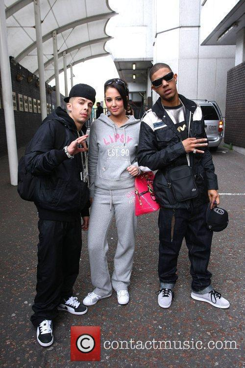 N-Dubz leave the ITV studios after appearing on...