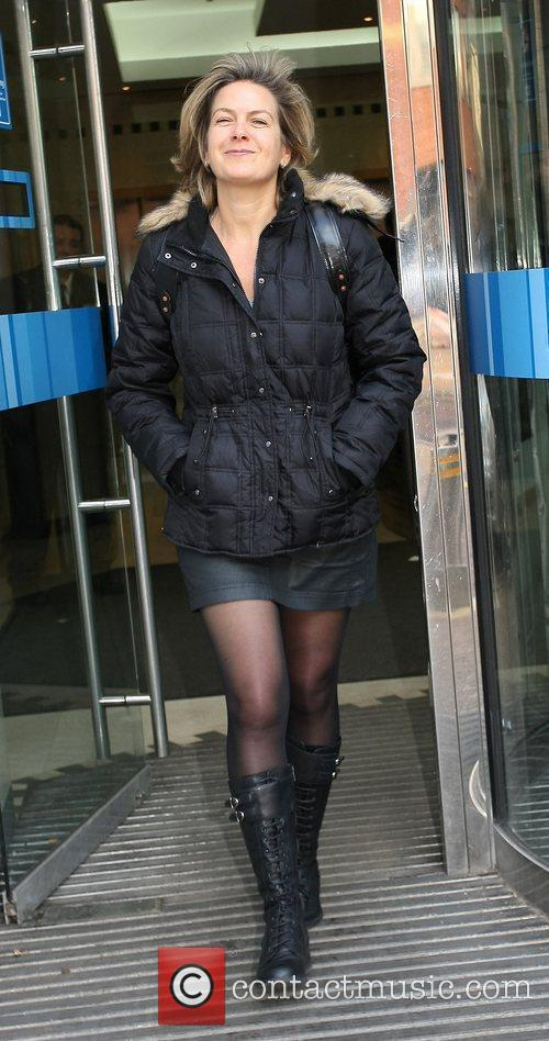 Penny Smith Celebrities outside the ITV television studios....