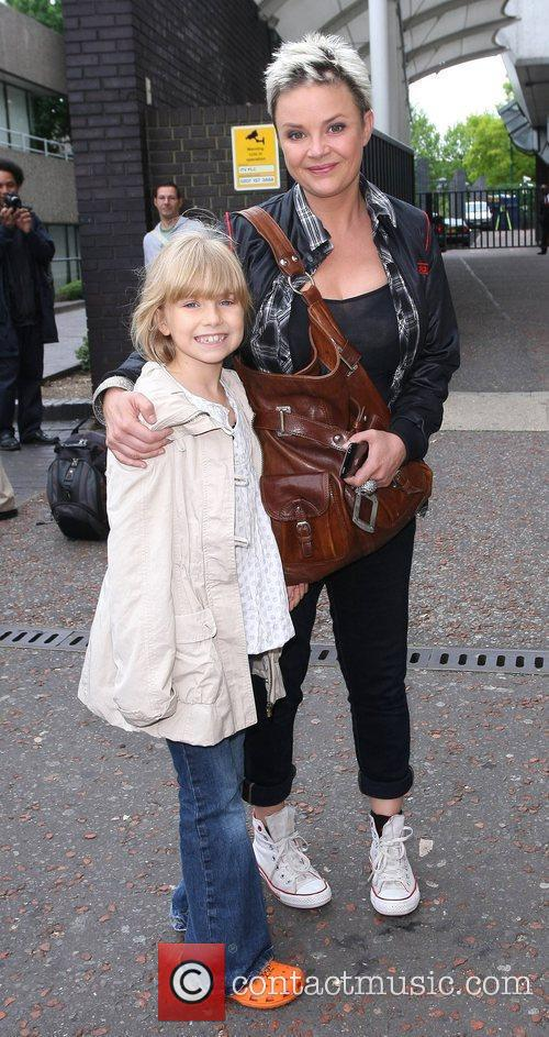 Gail Porter leaves the ITV studios London, England