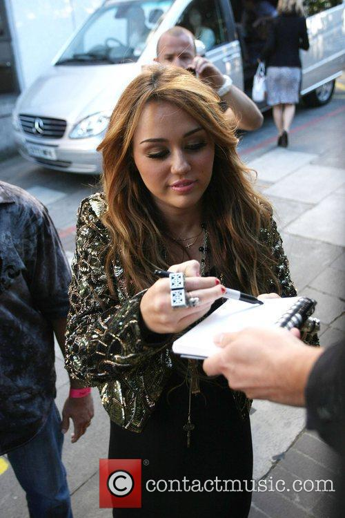 Miley Cyrus Celebrities outside the ITV television studios....