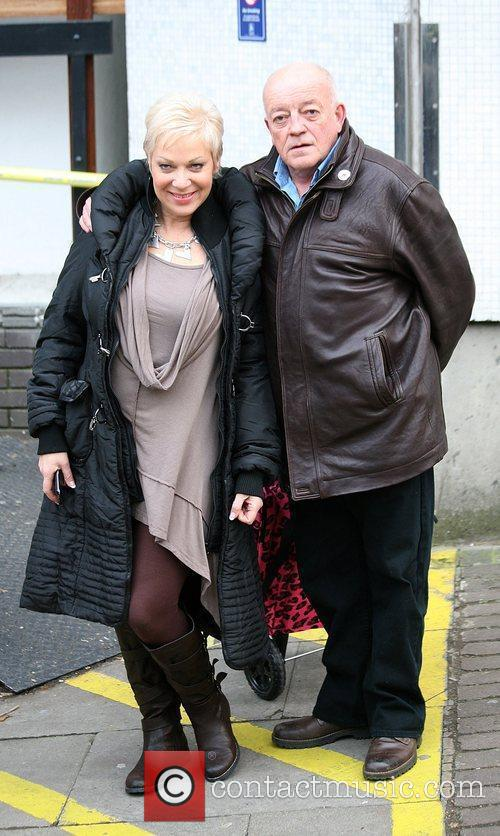 Denise Welsh and Tim Healy  Celebrities outside...