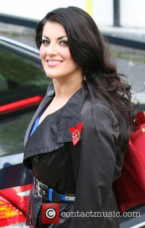 Jodie Prenger Celebrities outside the ITV television studios...