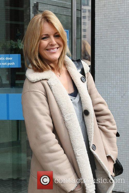 Helen Morton Celebrities outside the ITV television studios...