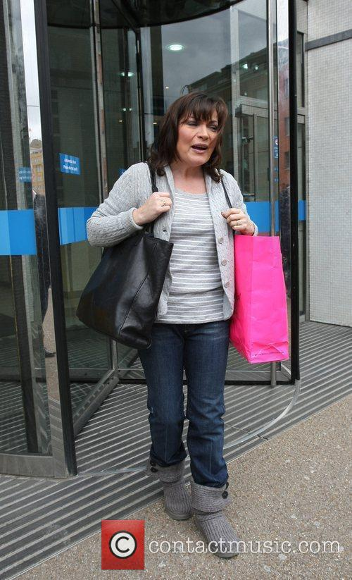 Lorraine Kelly Celebrities outside the ITV television studios...