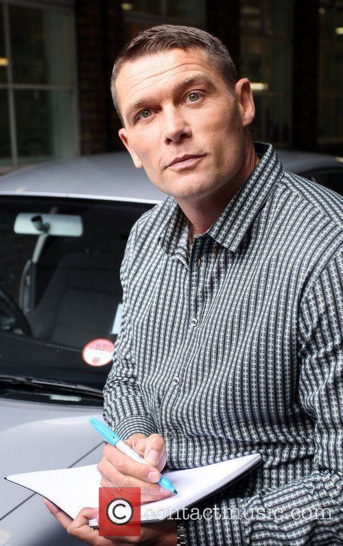 John Partridge leaves the ITV studios London, England