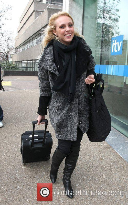 Camilla Dallerup Celebrities outside the ITV television studios....