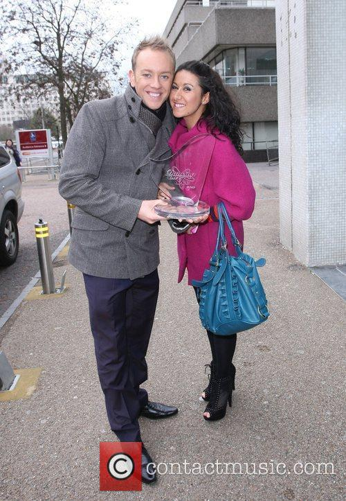 Daniel Whiston and Hayley Tamaddon outside the ITV...