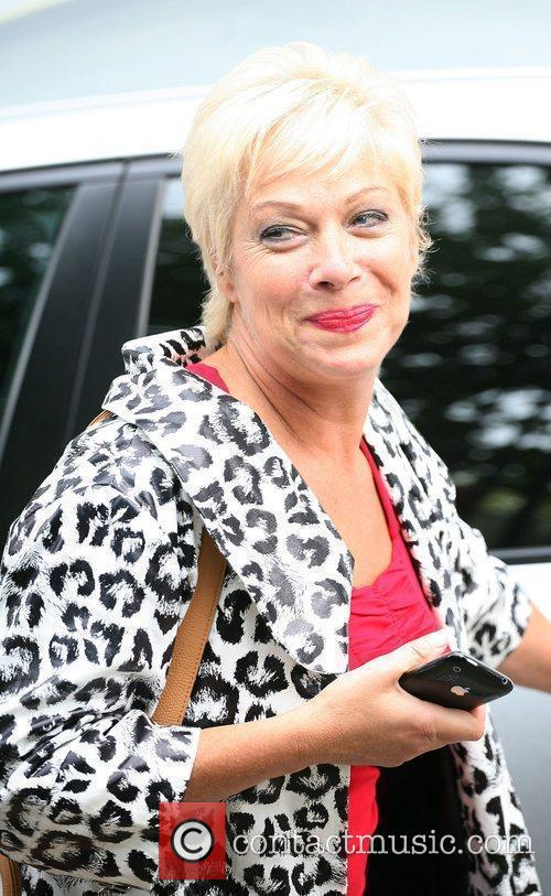 Denise Welch Celebrities outside the ITV television studios....