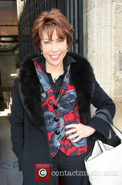 Kathy Lette Celebrities outside the ITV television studios....