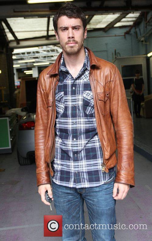 Toby Kebbell outside the ITV studios London, England
