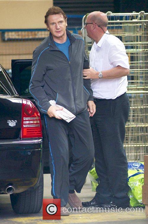 Liam Neeson outside the ITV studios London, England