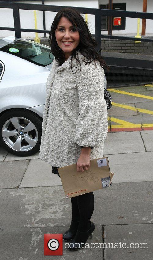 Zoe Tyler Celebrities outside the ITV television studios....