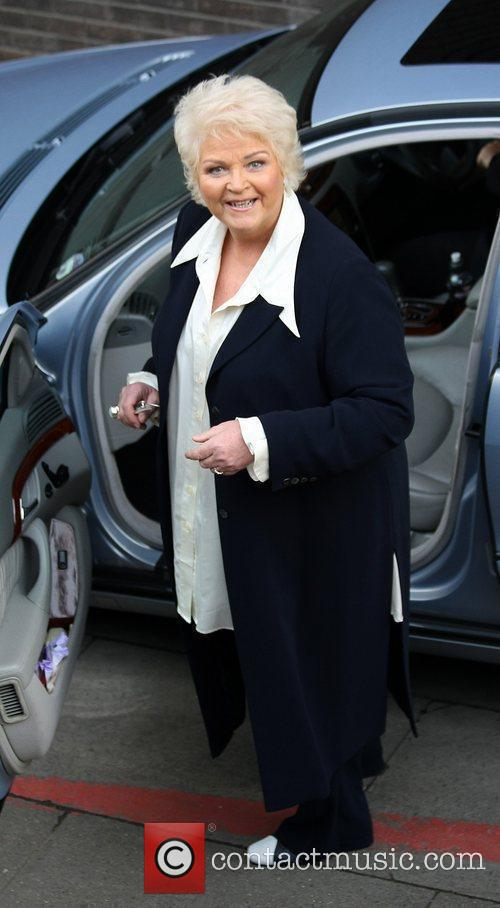 Pam St Clement Celebrities outside the ITV television...