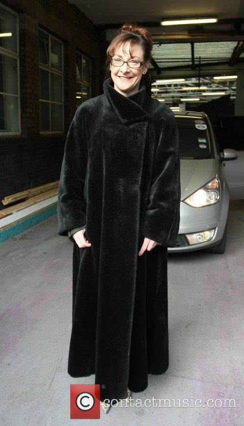 Pauline McLynn Celebrities outside the ITV television studios....