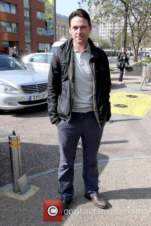 Dougray Scott outside the ITV studios London, England