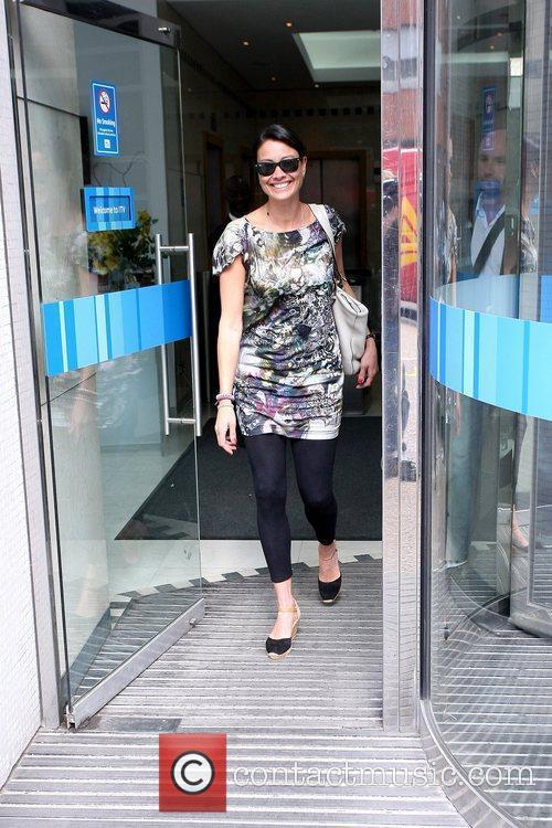 Melanie Sykes outside the ITV studios London, England