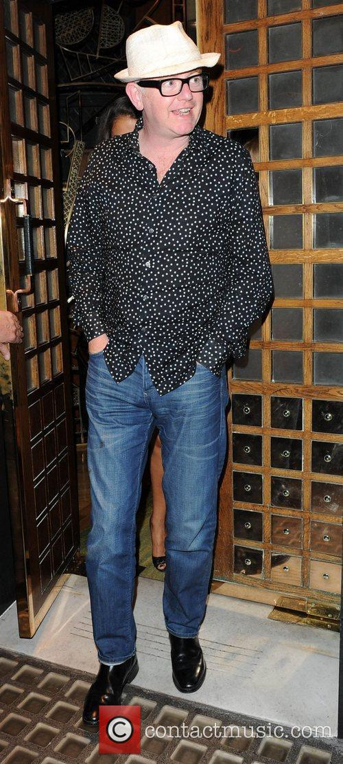 Chris Evans  leaving the Ivy restaurant London,...