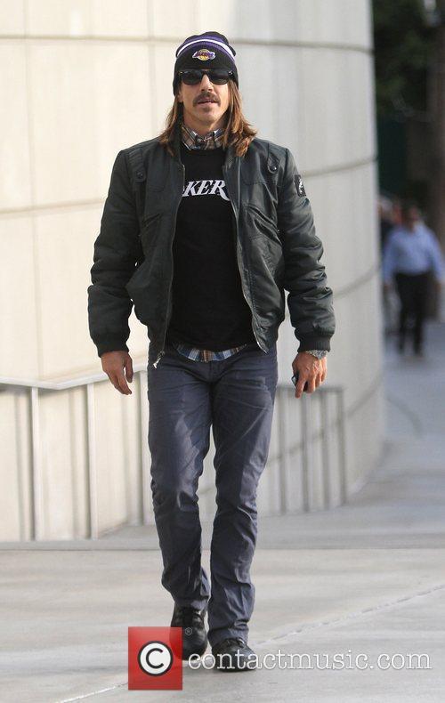 Anthony Kiedis Celebrities arrive at the Staples Center...