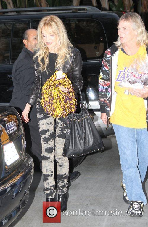 Dyan Cannon Celebrities arrive at the Staples Center...