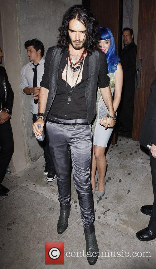 Russell Brand, Katy Perry Celebrities outside Las Palmas...