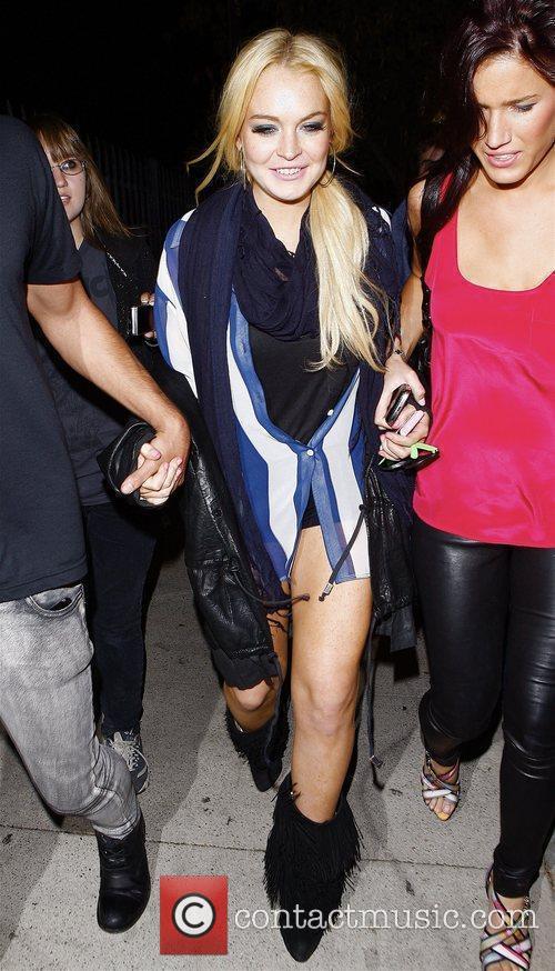 Celebrities outside Las Palmas club in Hollywood.