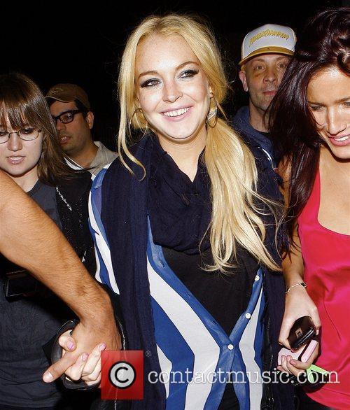 Lindsay Lohan Celebrities outside Las Palmas club in...
