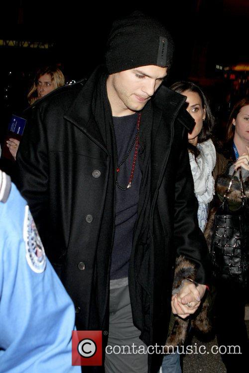 Ashton Kutcher and Demi Moore arriving at LAX...