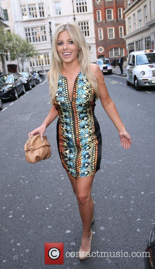 Mollie King of The Saturdays Celebrities outside the...