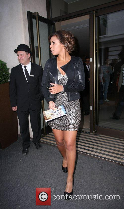 Rochelle Wiseman of The Saturdays Celebrities outside the...