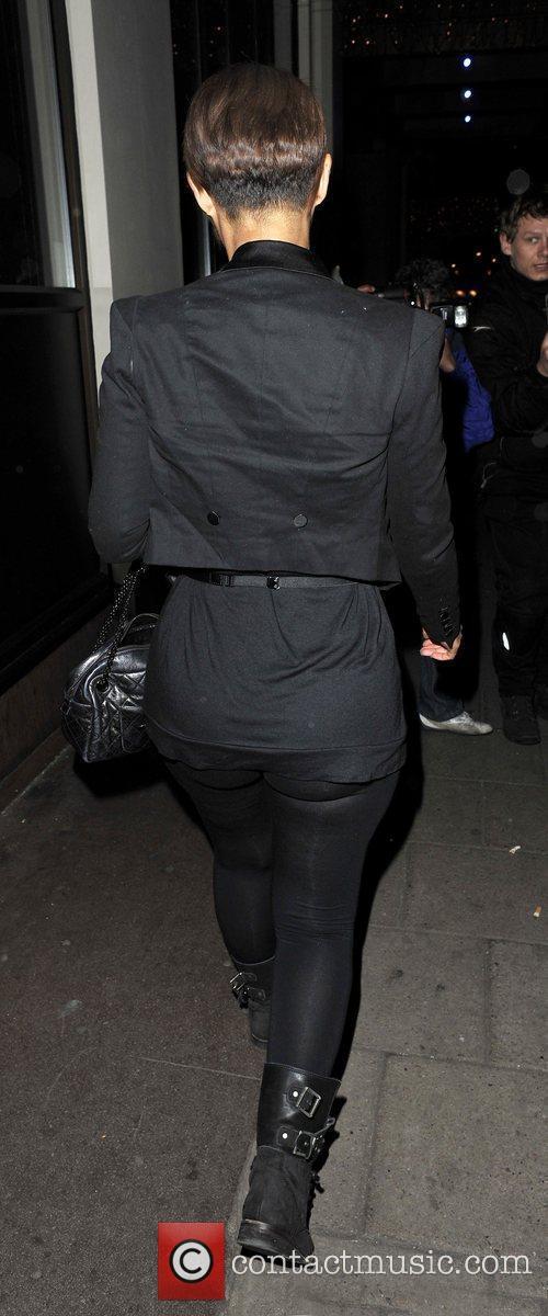 Amelle Berrabah leaves the May Fair Hotel London,...