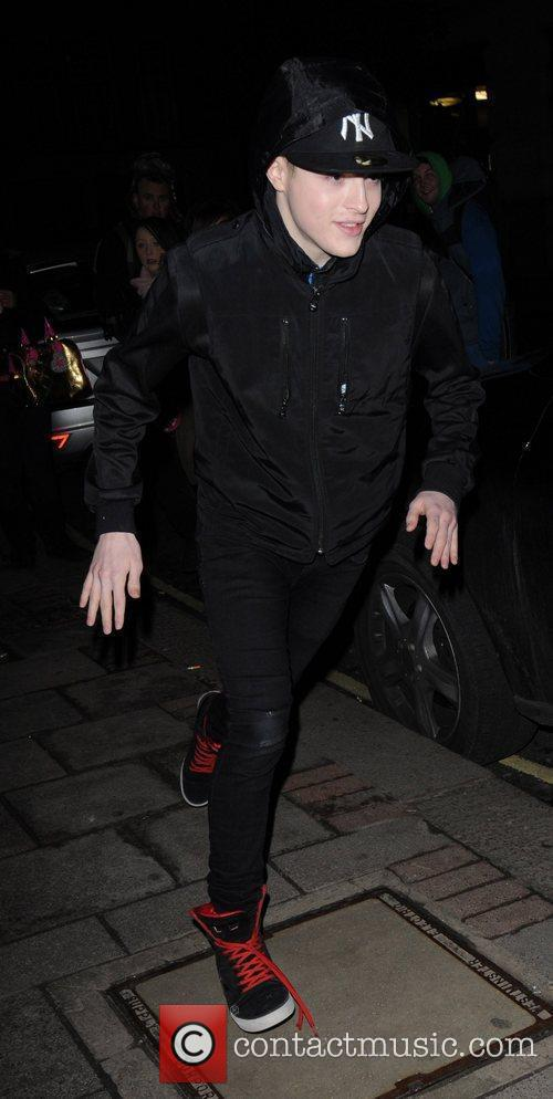 Jedward  outside the May Fair hotel London,...