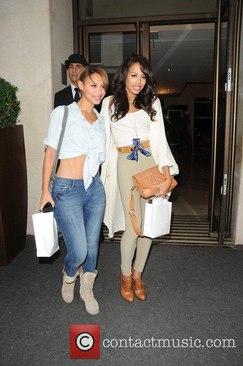Amelle Berrabah and Jade Ewen of the Sugababes...