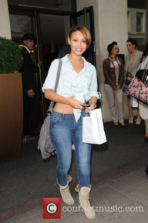 Amelle Berrabah of the Sugababes Celebrities outside the...