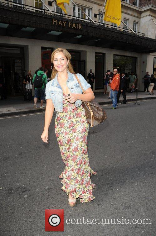 Heidi Range of the Sugababes Celebrities outside the...
