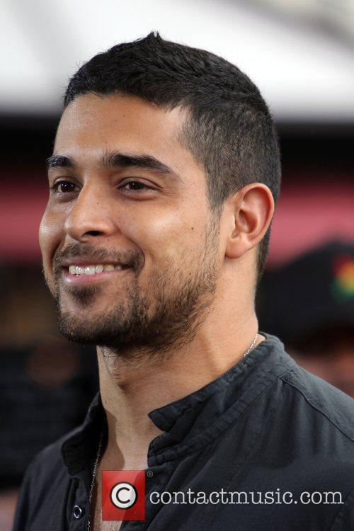 Wilmer Valderrama filming an interview for the entertainment...