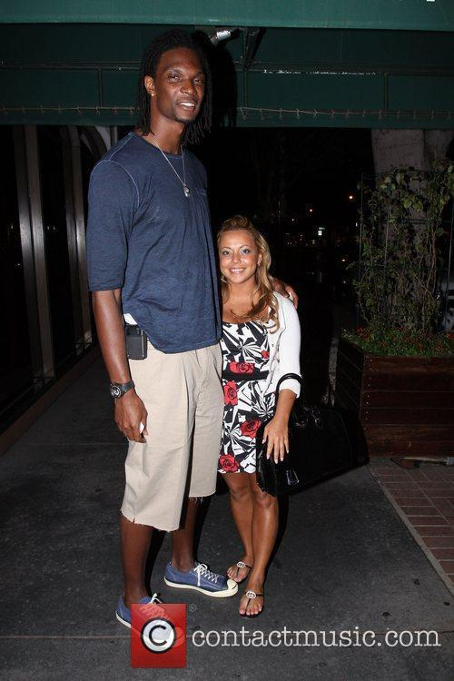 Chris Bosh and LaLa Vazquez seen outside Madeo's...