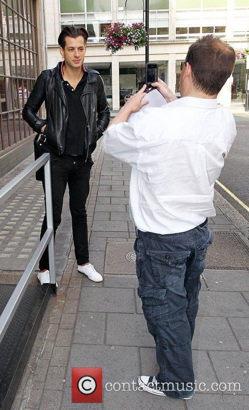 Mark Ronson arriving at the BBC Radio One...
