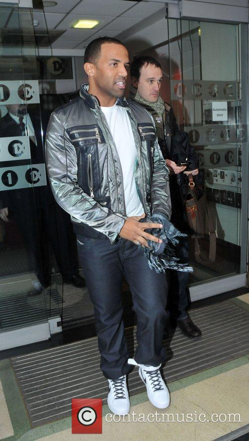 Craig David Celebrities outside the Radio One studios....