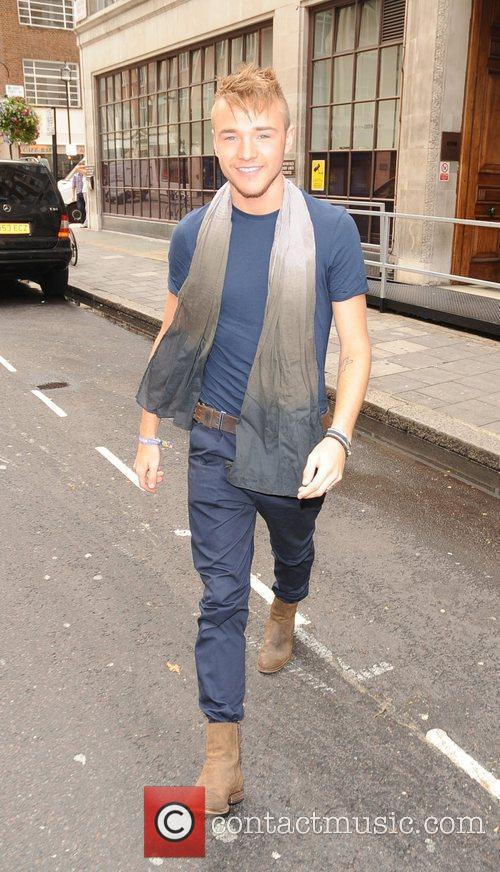 Lloyd Daniels Celebrities outside the Radio 1 studios....