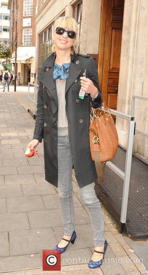 Sara Cox Celebrities outside the Radio 1 studios....