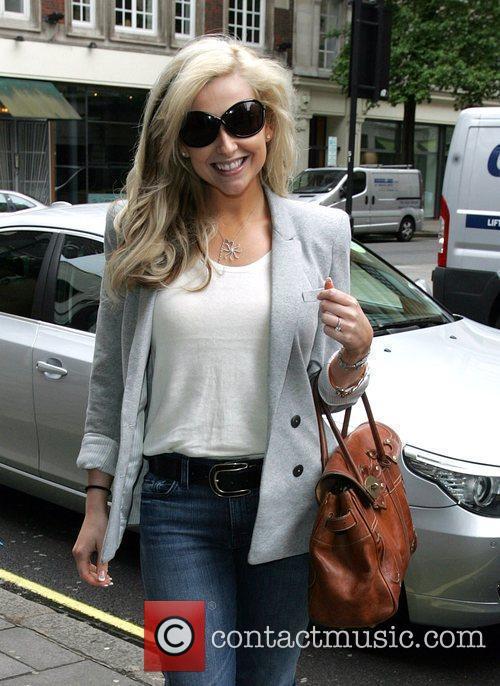 Gemma Merna  arriving at the BBC Radio...