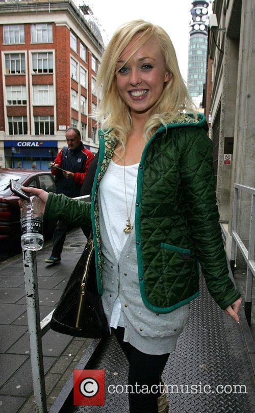 Jorgie Porter arriving at the BBC Radio One...
